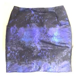 Shines blue &black skirt NWT